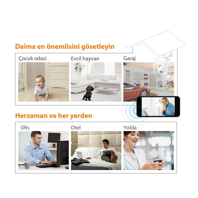 IC-7112W Smart HD Wi-Fi Pan/Tilt Network Camera, Day & Night, Free App, remote monitoring, pet, baby, elder, garage, home security