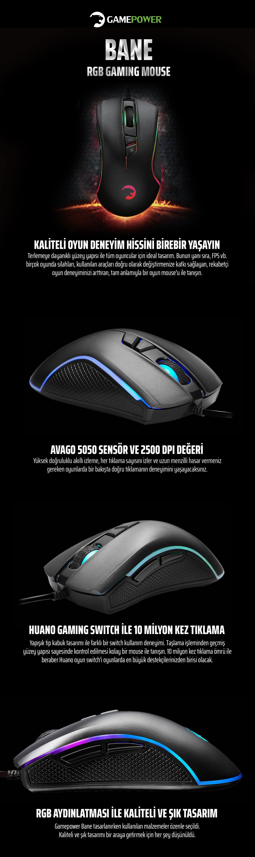 03f9f077901 Gamepower Bane Oyuncu Optik Mouse Usb - Siyah Fiyatı