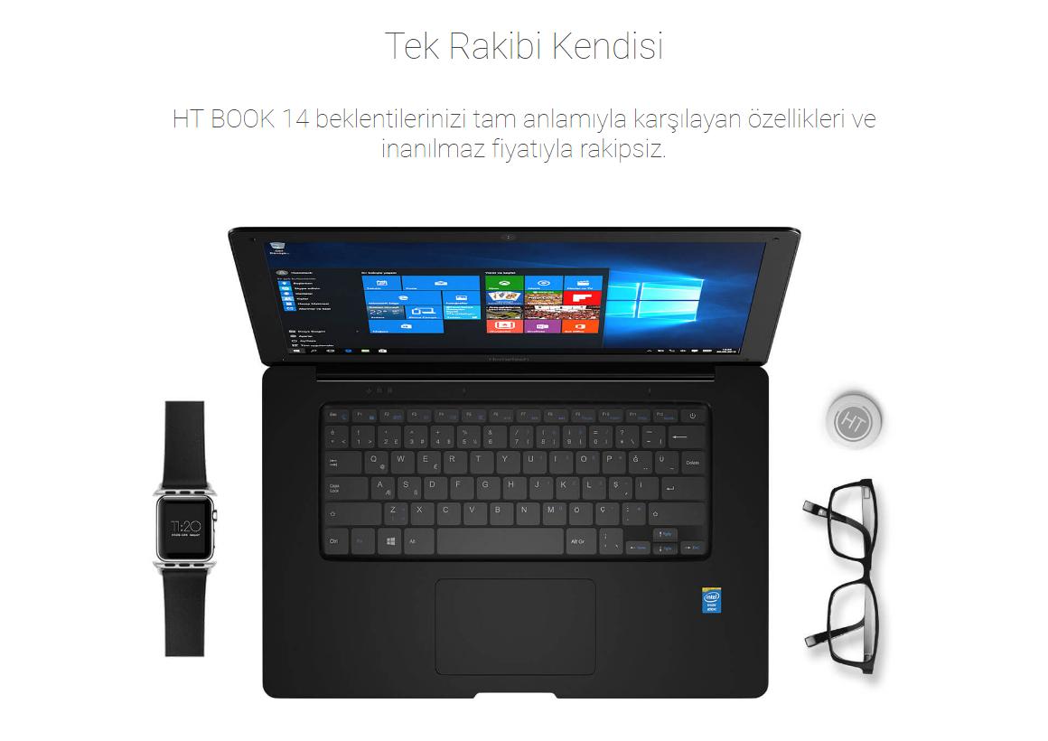 0f33bbad89519 Siz de Hometech HT BOOK 14 Intel Atom Z3735F 2GB 32GB Windows 10 Home 14