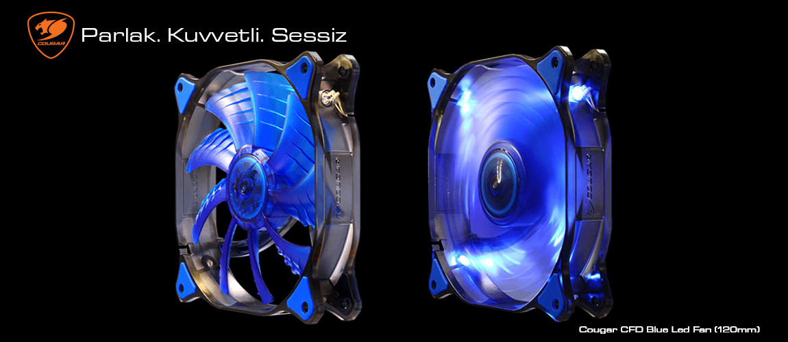 Cougar CFD SERIES Blue Led Fan(120mm)