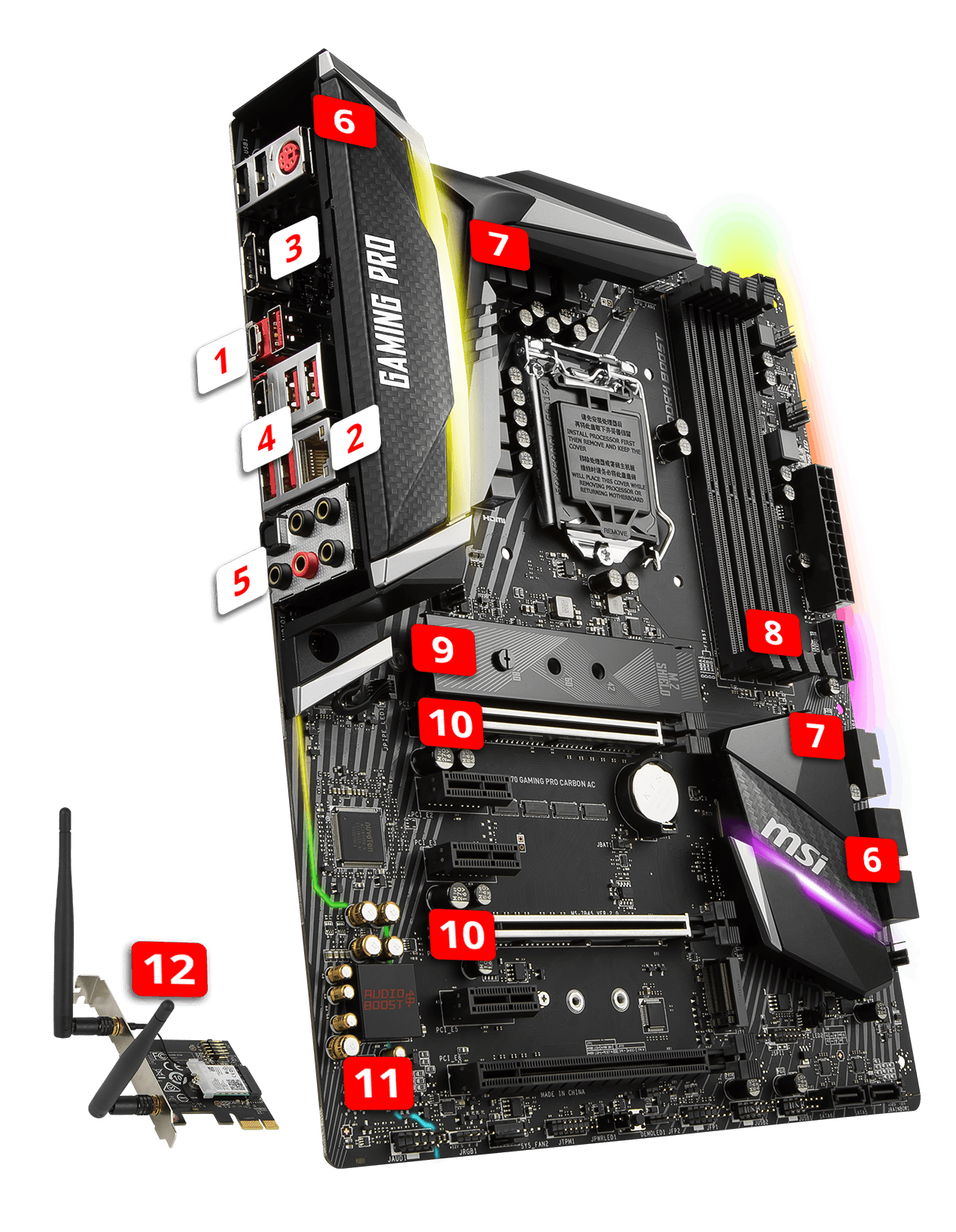 MSI Z370 GAMING PRO CARBON AC overview