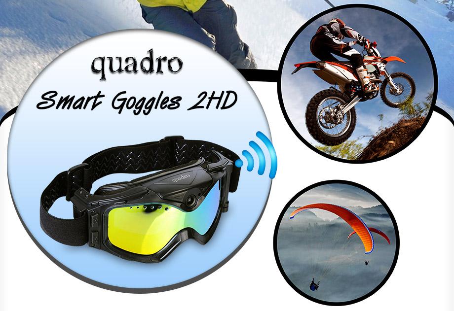 quadro, smart goggles, 2hd, quadro smart goggles 2hd, akıllı gözlük, kameralı gözlük, outdoor gözlük, kayak gözlüğü;, wifi, wi-fi, real time