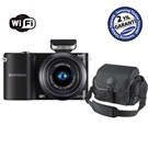 "Samsung NX1000 20-50mm Lens + Flash 20,3 MP 3.0"" LCD Wi-Fi Dijital Fotoğraf Makinesi"