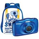 Nikon Coolpix S33 Kompakt Dijital Fotoğraf Makinesi Çanta Kit Mavi