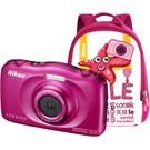 Nikon Coolpix S33 Kompakt Dijital Fotoğraf Makinesi Kit Pembe