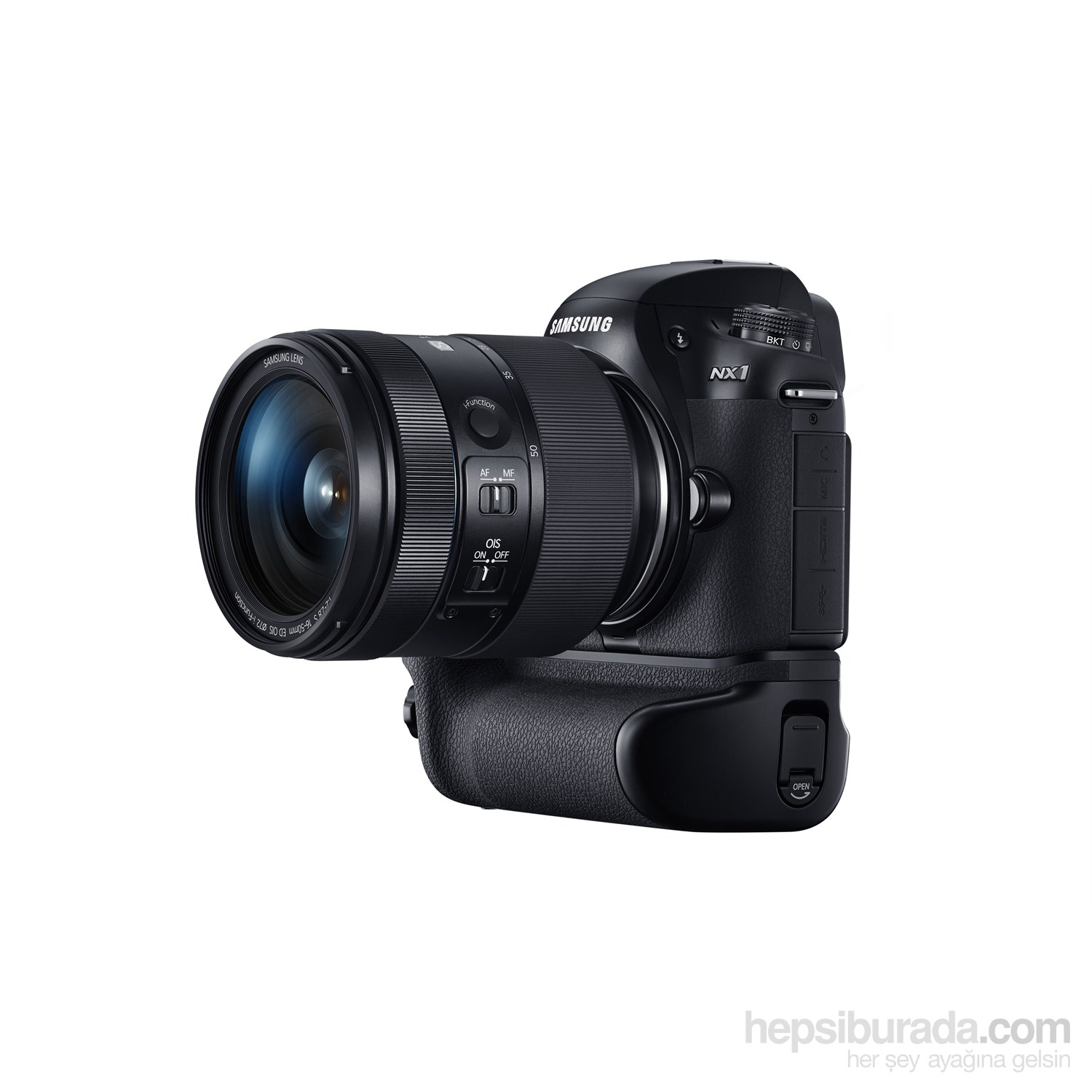 Samsung NX1 16-50 f/2-2.8 lens + Battery Grip 28 Mp 4K/UHD Video Aynasız DSLR Fotoğraf Makinesi