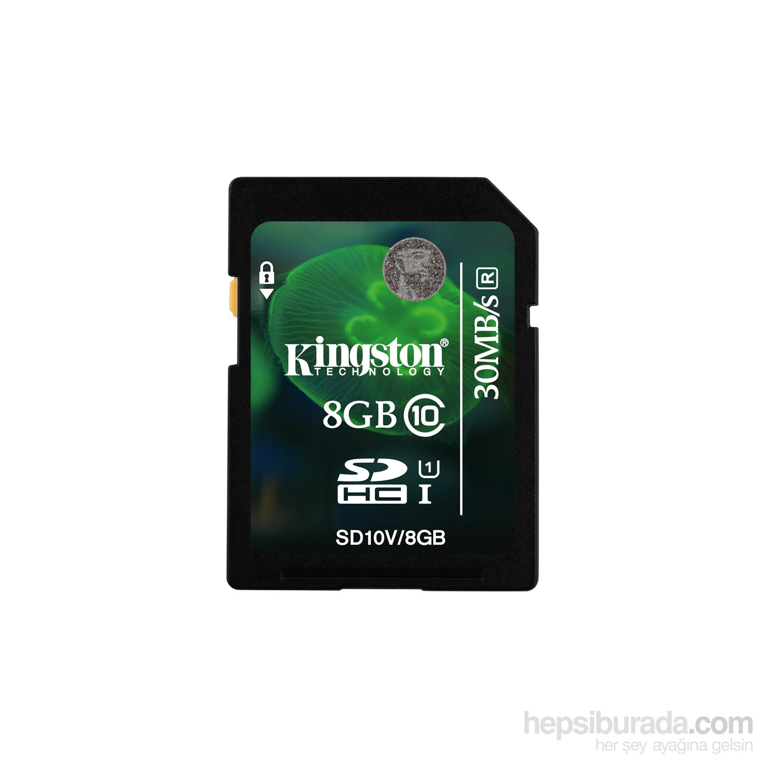 Kingston 8GB SDHC Class 10 UHS-I Hafıza Kartı SD10V/8GB