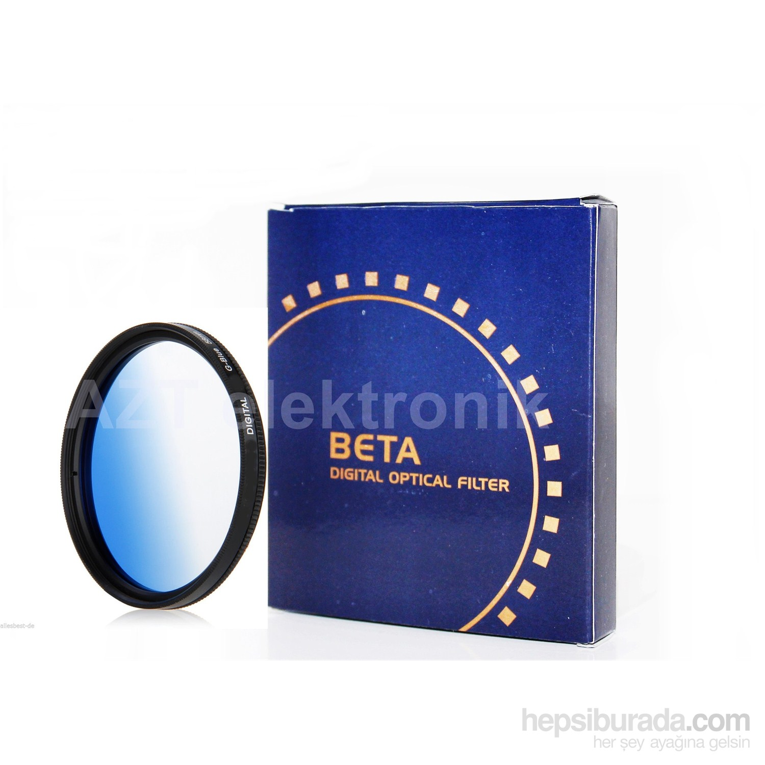 Beta 52Mm Gradual Degrade Kademeli Blue Mavi Filtre