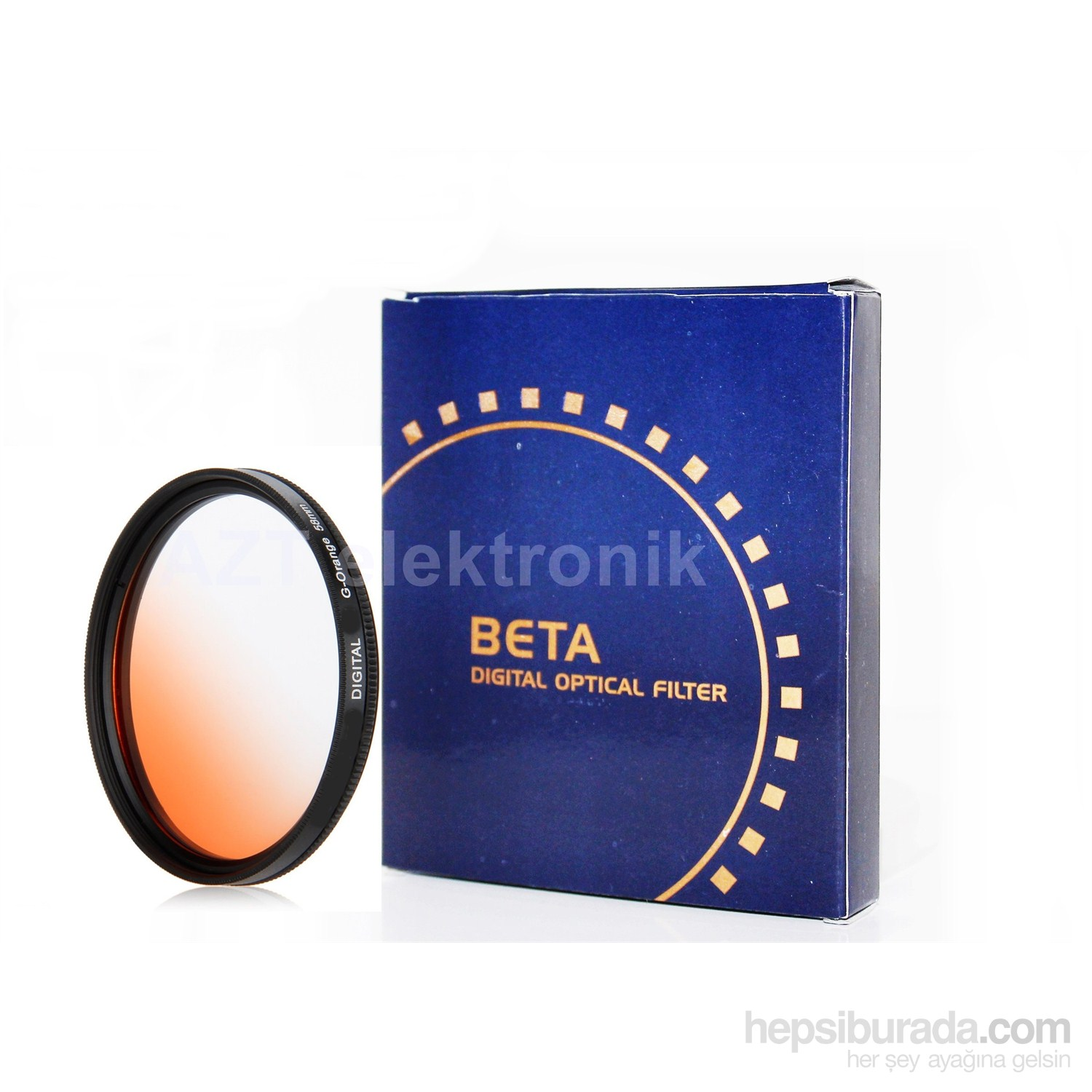 Beta 72Mm Gradual Degrade Kademeli Orange Turuncu Günbatımı Filtre