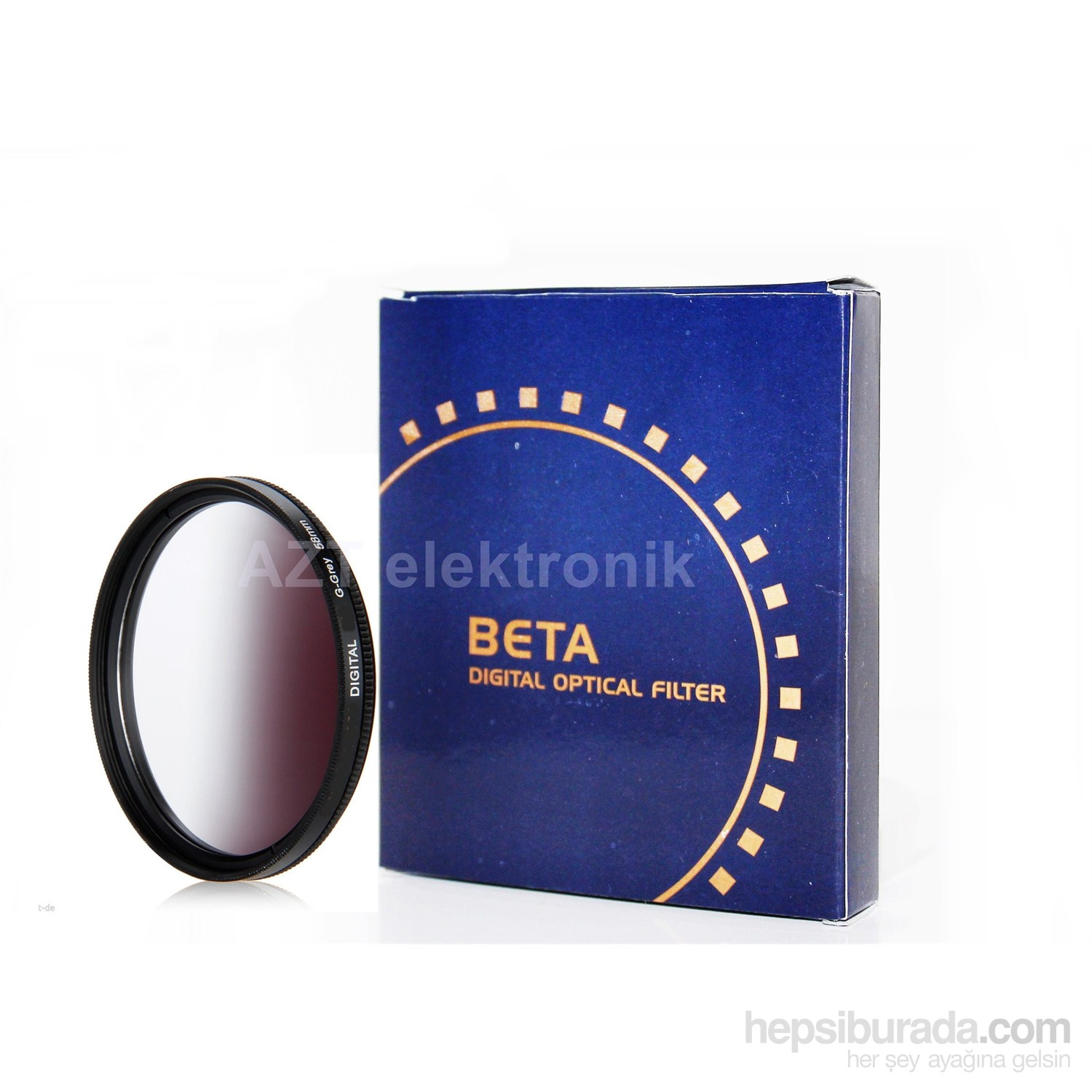 Beta 58Mm Gradual Degrade Kademeli Grey Gri Nd Filtre