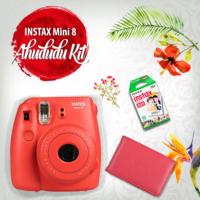 Fujifilm Instax Mini 8 Şipşak Makine 3'lü Kit Ahududu