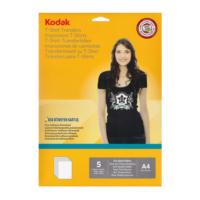 Kodak T-Shirt Transfer Baskı Kağıdı A4 Siyah-Renkli 5 Sayfa