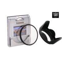 Nikon 18-55mm Lens için Koruyucu Uv Filtre + Yaprak Parasoley -Tianya-