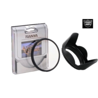 58mm Lens ler için Koruyucu Uv Filtre + Yaprak Parasoley -Tianya-