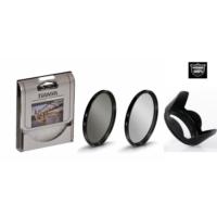 Canon 18-55mm Lens için Koruyucu Uv Filtre + Cir Cpl Circular Polarize Filtre + Yaprak Parasoley -Tianya-