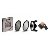 Nikon 18-105mm Lens için Uv Filtre + Cpl Circular Polarize Filtre + Hb-32 Parasoley + Ml-l3 Kumanda -Tianya-