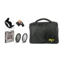 Nikon Kare Çanta ve 18-55mm Lens için Uv + Cpl Polarize Filtre + Yaprak Parasoley + Ml-l3 Kumanda