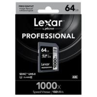 Lexar 64GB 1000x Professional SDXC Hafıza Kartı UHS-II 150MB/sn (LSD64GCRBEU1000)