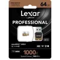 Lexar 64GB 1000X MicroSDXC High Speed Hafıza Kartı + Reader Class10 U3 (LSDMI64GCBEU1000R)