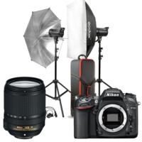 Nikon D7100 + 18-140 + Godox 2'li (400W) + Çadır