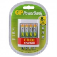 Gp Power Bank U411 950Mah Aaa 4 Adet Pil Usb Free Charger Hediye