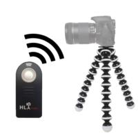 Nikon D5100 İçin HLYpro Gorillapod Tripod + ML-L3 Uzaktan Kumanda