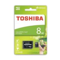 Toshiba 8GB MicroSDHC Class 4 + Adaptör