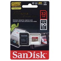 Sandisk Extreme microSD 32GB + SD Adapter 90MB/s Class 10 Hafıza Kartı SDSQXNE-032G-GN6MA