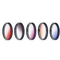 Dhd Nikon 18-55Mm Lens İçin Gradual Degrade Kademeli 5 Li Efekt Filtre Seti