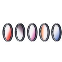 Dhd Nikon 18-140Mm Lens İçin Gradual Degrade Kademeli 5 Li Efekt Filtre Seti