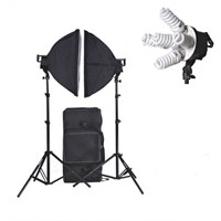 Sürekli Video Işık 5500K 45W 2''Li Çantalı Set 60X60 Softbox