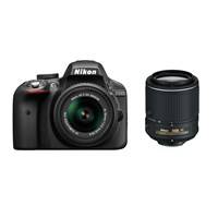 Nikon Dslr D3300 18-55Vr Iı + 55-200Vr Iı Duble Kit Fotoğraf Makinesi