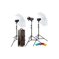Godox E400 W/S 3'Lü Şemsiyeli Paraflaş Set