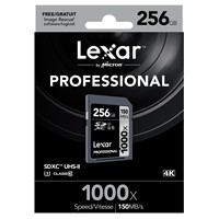 Lexar 256Gb 1000X Professional Sdxc Uhs-Iı-150 Mb/Sn. (Class 10) U3 Hafıza Kartı