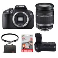 Canon Eos 700D + 18-200 Lens + Battery Grip + Hafıza Kartı + Çanta + Uv Filtre