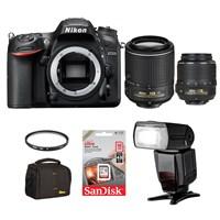 Nikon D7200 + 18-55 + 55-200 Dx Vr + Ttl Flash + Hafıza Kartı + Çanta + Uv Filtre