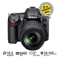 "Nikon D7000 18-105mm VR KIT 16.2 MP 3"" LCD Dijital SLR Fotoğraf Makinesi"