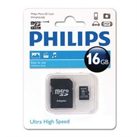 Philips 16GB Class 10 Micro SDHC+ Adaptör FM16MA45B