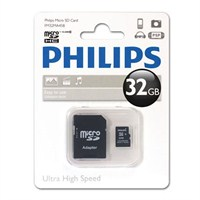 Philips 32GB Class 10 Micro SDHC+ Adaptör FM32MA45B