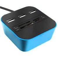 Codegen USB 2.0 Kart Okuyucu + 3 Usb Port Mor