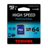 Toshiba 64GB UHS-1 Class-10 Profesyonel Micro SD Hafıza Kartı