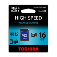 Toshiba 16GB Micro SDHC UHS-1 C10 30MB/sn