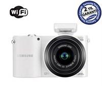 "Samsung NX1000 20-50mm Lens + Flash 20,3 MP 3.0"" LCD Wi-Fi Dijital Fotoğraf Makinesi"