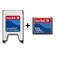 Sandisk PCMCIA-CF Adaptör + 1GB CF Kart
