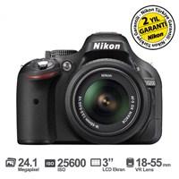 "Nikon D5200 18-55 VR 24.1 MP 3"" LCD Ekran Dijital SLR Fotoğraf Makinesi"