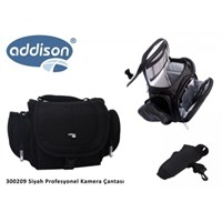 Addison 300209 Siyah Profesyonel Kamera Çantası