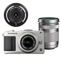 Olympus E-PM2 3 Lens kit Aynasız SLR Fotoğraf Makinesi Gümüş