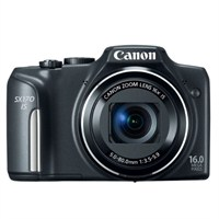 "Canon PowerShot SX170IS Siyah 16 MP 16X Optik Zoom 3,0"" LCD Dijital Fotoğraf Makinesi"