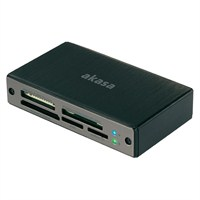 Akasa Alüminyum USB 3.0 Kart Okuyucu (AK-CR-06BK)