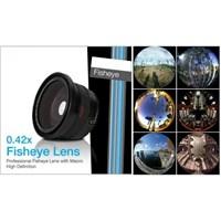 Azt 52 Mm Lensler İçin 0.42X Fisheye Balıkgözü + Süper Macro Lens